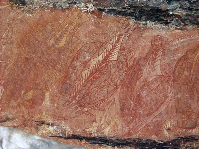 800px-Aboriginal_art_barramundi_rock_art